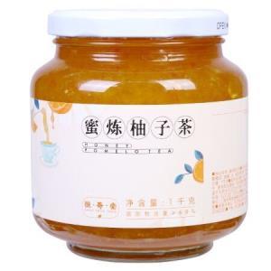 恒寿堂 蜂蜜柚子茶1000g 蜜炼柚子茶冲饮果茶花果茶酱1kg大罐装28元