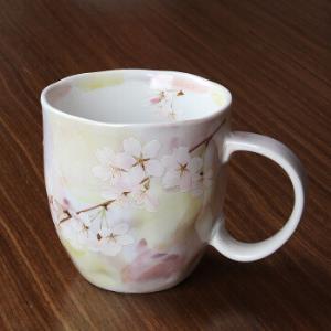 美浓烧日式进口茶杯家用喝水杯牛奶杯办公室杯子清新简约樱花杯 黄色樱花189元