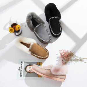 【ASUGG澳洲牧羊人】休闲豆豆鞋翻毛套脚澳洲羊毛防水防滑男女冬款 Popo Moccasin15607399元包邮