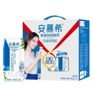 伊利 安慕希希腊风味常温酸奶原味205g*12盒/礼盒装 秒杀价52.8元