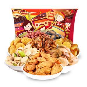 姚太太 年货坚果礼盒 罐装每日坚果零食干果 福到运到大礼包1256g *2件128元(合64元/件)