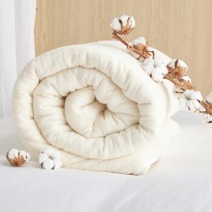 大朴(DAPU)被芯家纺 纯新疆棉花冬被被胎 7斤棉花被子被芯 包边款 大双人1.8/2.0米床 220*240cm