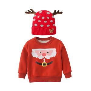 Purrfect diary 咕噜日记 儿童圣诞加绒加厚卫衣圣诞帽2件套 59元包邮