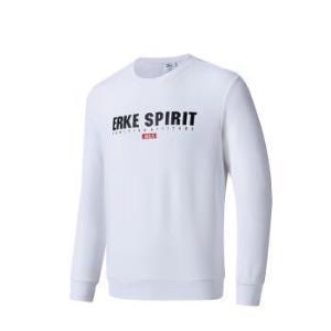 鸿星尔克 男运动卫衣休闲圆领套头衫运动服 11218314246 正白 XL74.5元