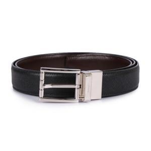 BALLY 巴利 男士黑色深咖色牛皮银色针扣双面皮带腰带 ASTOR 30 M/540 1101183元