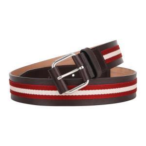 BALLY 巴利 男士红米织物配皮银色针扣皮带腰带 TIANIS 40 981 95cm1043元