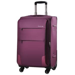 汉客H8055 紫色20英寸商务万向轮拉杆箱旅行箱行李箱子登机箱配密码锁 198元