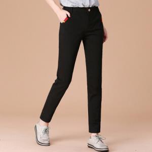 城加CIYPLUS 文艺复古女装宽松百搭哈伦西装裤休闲裤 CWKX179173 黑色 XL 34.5元