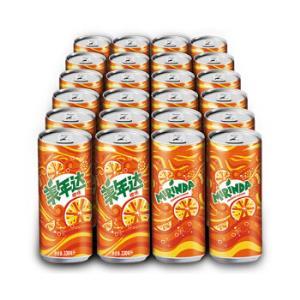 PEPSI 百事 美年达 橙味 果味型汽水 330ml*24罐 *2件74.8元(合37.4元/件)