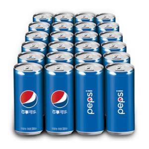 百事可乐 可乐型汽水(细长罐)330ml*24罐 *2件86.8元(合43.4元/件)