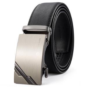 金利来(Goldlion)男士皮带简约自动扣牛皮腰带时尚休闲男款裤带MPC82017-1191黑125-130CM111元