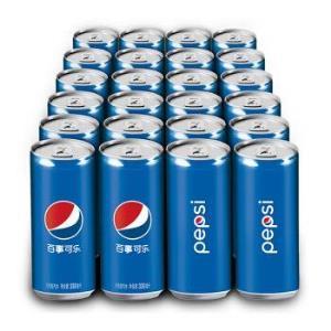 百事可乐 Pepsi 细长罐 碳酸饮料 330ml*24听(新老包装随机发货) *2件92.6元(合46.3元/件)