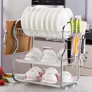 赞居 三层沥水碗碟架 落地置物架 创意厨房餐具整理收纳架 89元