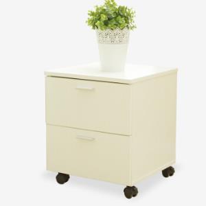 美达斯 储物柜 可移动抽屉柜地柜收纳柜文件柜 白色 11456 99元