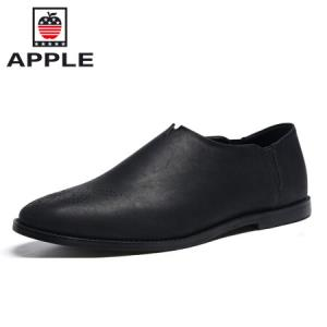 苹果时尚百搭男士简约商务休闲皮鞋 18108AP016 黑色 4054元