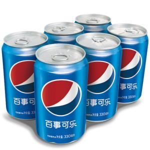 百事可乐 可乐型汽水 330ml*6罐 *8件74.2元(合9.28元/件)