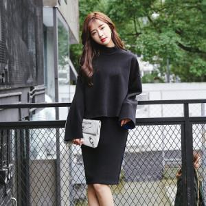 俞兆林  2018秋季新款韩版宽松时尚连衣裙套装女YWLQ188274 黑色 L69.5元