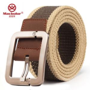 迈宝龙 男士腰带帆布针扣加厚12.8元包邮(需用券)