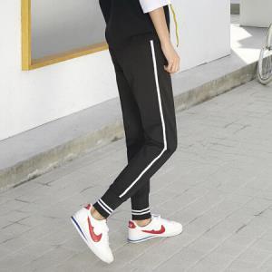 俞兆林 2018秋季新款韩版收口小脚束脚休闲裤女YWXK188384 黑色M44.5元