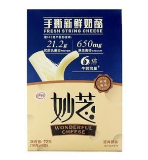 伊利 妙芝 经典原味 18g*4 手撕新鲜奶酪干酪15.95元