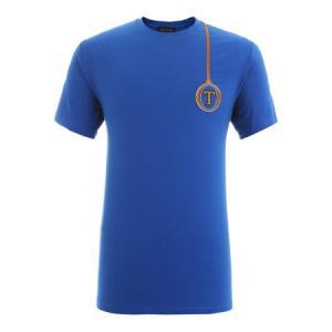 TRUSSARDI杜鲁萨迪 18春夏 男士蓝色棉质字母LOGO圆领短袖T恤32T00056 1T000801 U250 M码796元