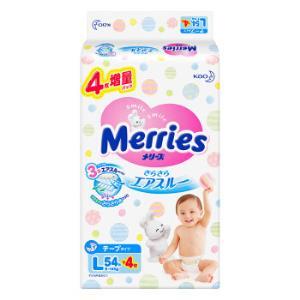 kao 花王 Merries 妙而舒 婴儿纸尿裤 L号 58片 *4件312元(合78元/件)