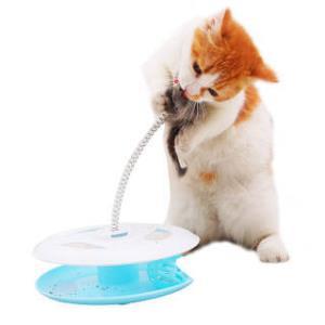 hoopet 华元宠具 猫玩具转盘球 蓝色 M  6.75元