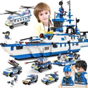 咔噜噜 儿童益智军事积木玩具472粒  券后¥25