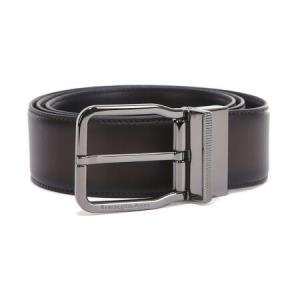 Ermenegildo Zegna 杰尼亚 男士深棕色黑色牛皮双面针扣腰带 ZPJ45S 314A TDN 1051234.62元