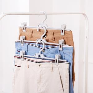 5个装多功能挂裤架带夹子防滑裤衣架  券后12.8元