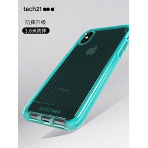苹果认证品牌 Tech21 高端款 iPhone X/XS 全包防摔手机壳 3米防摔88元双12价 平常178元