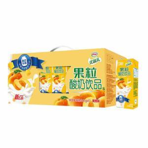 伊利优酸乳果粒酸奶饮品黄桃口味245g*12盒 30.2元(满99减10)