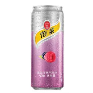 怡泉 Schweppes 覆盆子味 气泡水 碳酸饮料 330ml*24罐39.9元