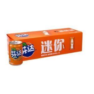 Fanta 芬达 橙味碳酸饮料 200ml*12罐 整箱装 *2件32元(合16元/件)