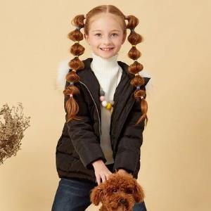 美特斯邦威旗下Moomoo童装儿童时尚字母印花保暖短款连帽拉链女童羽绒服冬    122.7元