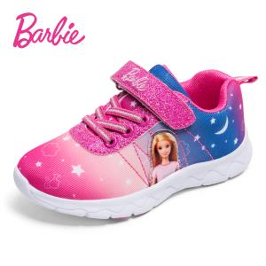 芭比童鞋女童鞋子2018新款秋韩版女孩小童运动鞋软底公主休闲鞋潮  129元