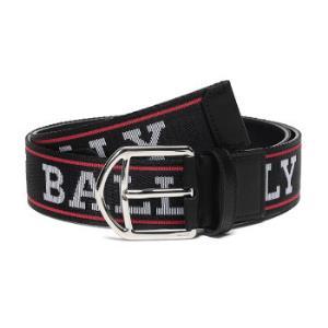 BALLY 巴利 男士黑色红色白色LOGO图案织物配皮针扣式皮带腰带 NOVO 40 M SL 164 105cm 479.7元