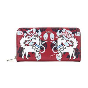 芙拉 BABYLON 女士系列红色多色拼色皮革长款钱包钱夹 921817 P PS52 A78 TONI RUBY 810元