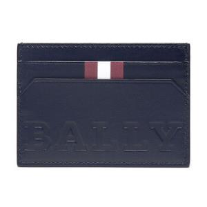 BALLY 巴利 男士墨蓝色红白条纹皮质卡包卡夹 BHAR BOLD 07 359.7元