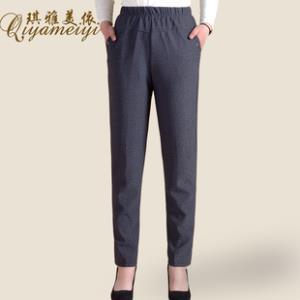 妈妈装加厚加绒休闲长裤直筒裤  券后¥39