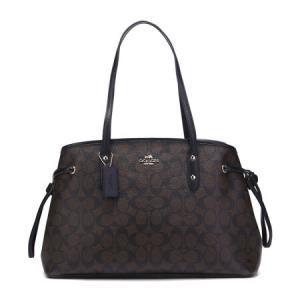 COACH 蔻驰 奢侈品 女士深棕色PVC手提单肩包 F57842 IMAA8 1048元