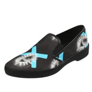 PRADA 普拉达 男士黑色印花帆布轻便一脚蹬休闲鞋 2OG051 1O8R F0RX0 9/43码 1920元