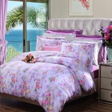 富安娜家纺 四件套纯棉床上用品床单被套全棉1.8米 花韵 1.8米床 299元