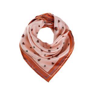 BALLY 巴利 女士肉粉色波点印花丝巾 L7GM334F-6P204 663 6220600 599.7元