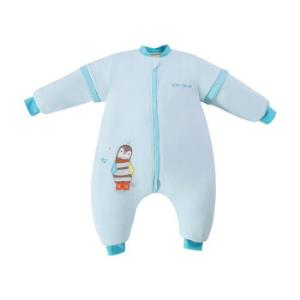 AUSTTBABY 婴儿睡袋 秋冬加厚宝宝分腿防踢被子 圣伦斯堡/90cm *2件+凑单品104.9元(合52.45元/件)