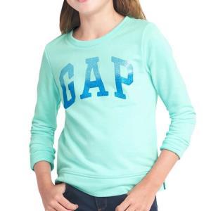 GAP 18春夏新款 绿色LOGO女童长袖T恤5-11岁 *3件107元(合35.67元/件)