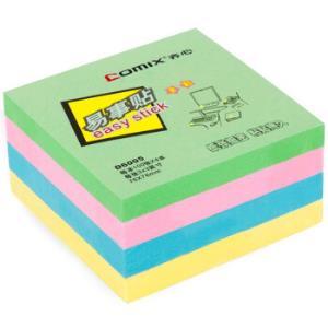 齐心(Comix)4色装便利贴/便签纸/便签本/易事贴/百事贴(76x76mm) 办公文具 D60058.9元
