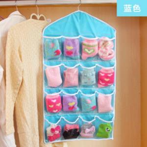 居家迷 2个装透明16格衣柜挂式收纳袋11.6元