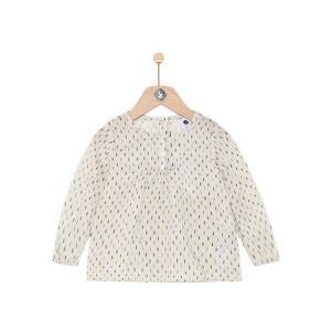 Z-PARIS 法国进口 9个月-4岁 金丝小波点衬衫 女童 米白色 *3件119元(合39.67元/件)