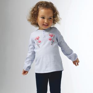 Z-PARIS 法国进口 9个月-4岁 衬衫 女童 浅蓝色 *3件119元(合39.67元/件)